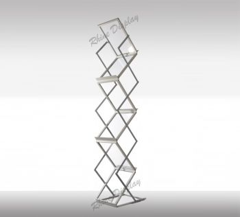 Brochure Holder Clear Zigzag Stand A4 Size