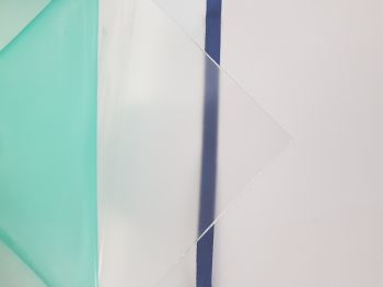 """Polyester Sheets 2050 x 1250 x 0.8mm Clear Anti Reflective(One Side Matt) """"PET A"""""""