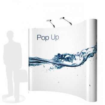 POP UP STAND 3x4 CURVED