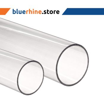 Acrylic Round Tube Clear 12 MM x 8 MM x  2000 MM