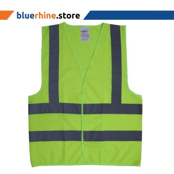 Fabric Safety Jacket Yellow with reflective stripes-XL