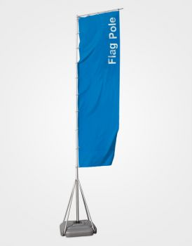 Giant Flag Pole 7.4 Mtrs BANNER SIZE 1.4 X 5 MTR